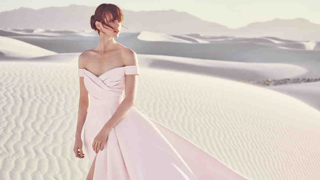 Rose Pink Wedding Dress
