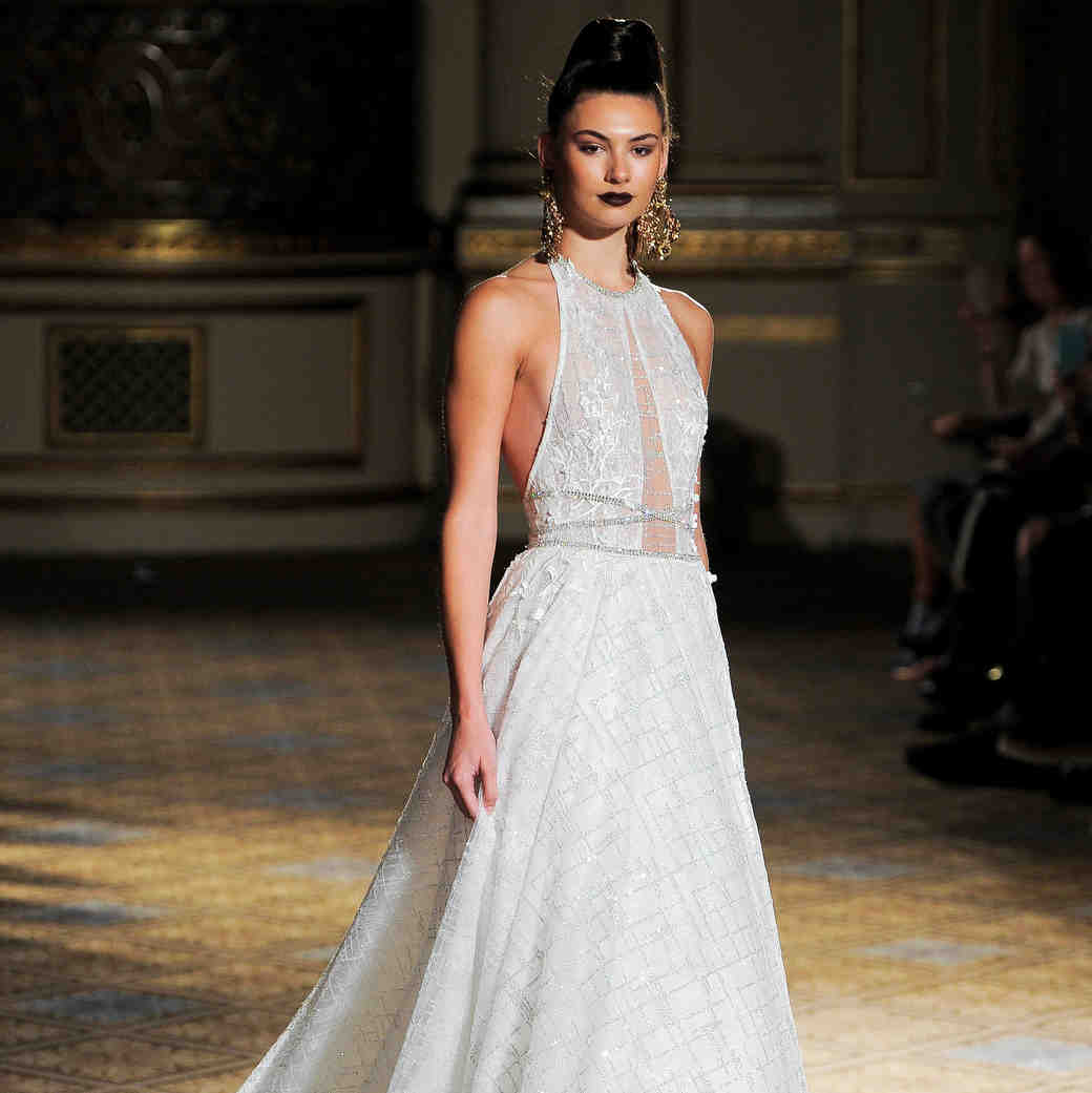 berta halter sparkly wedding dress spring 2018