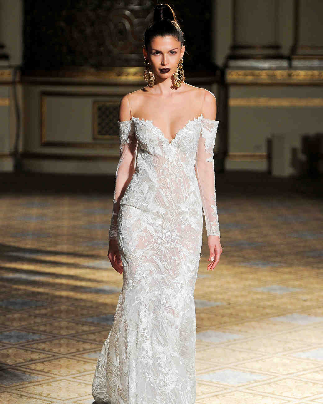 berta illusion long sleeves wedding dress spring 2018