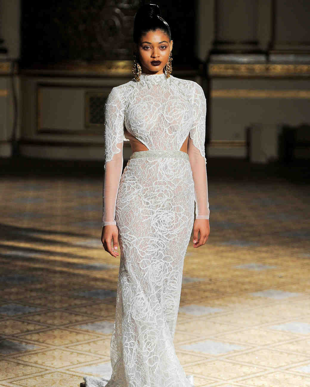 berta high neck long sleeves wedding dress spring 2018