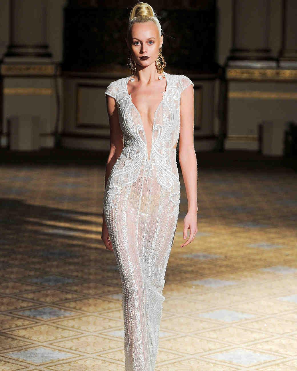 berta v-neck sheath wedding dress spring 2018