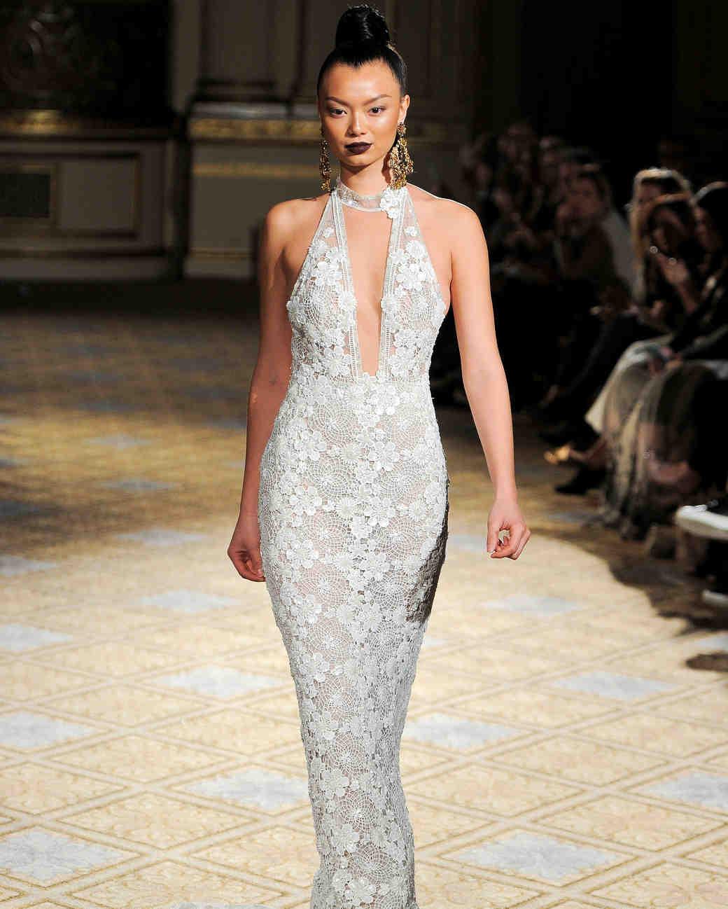 berta choker halter lace wedding dress spring 2018