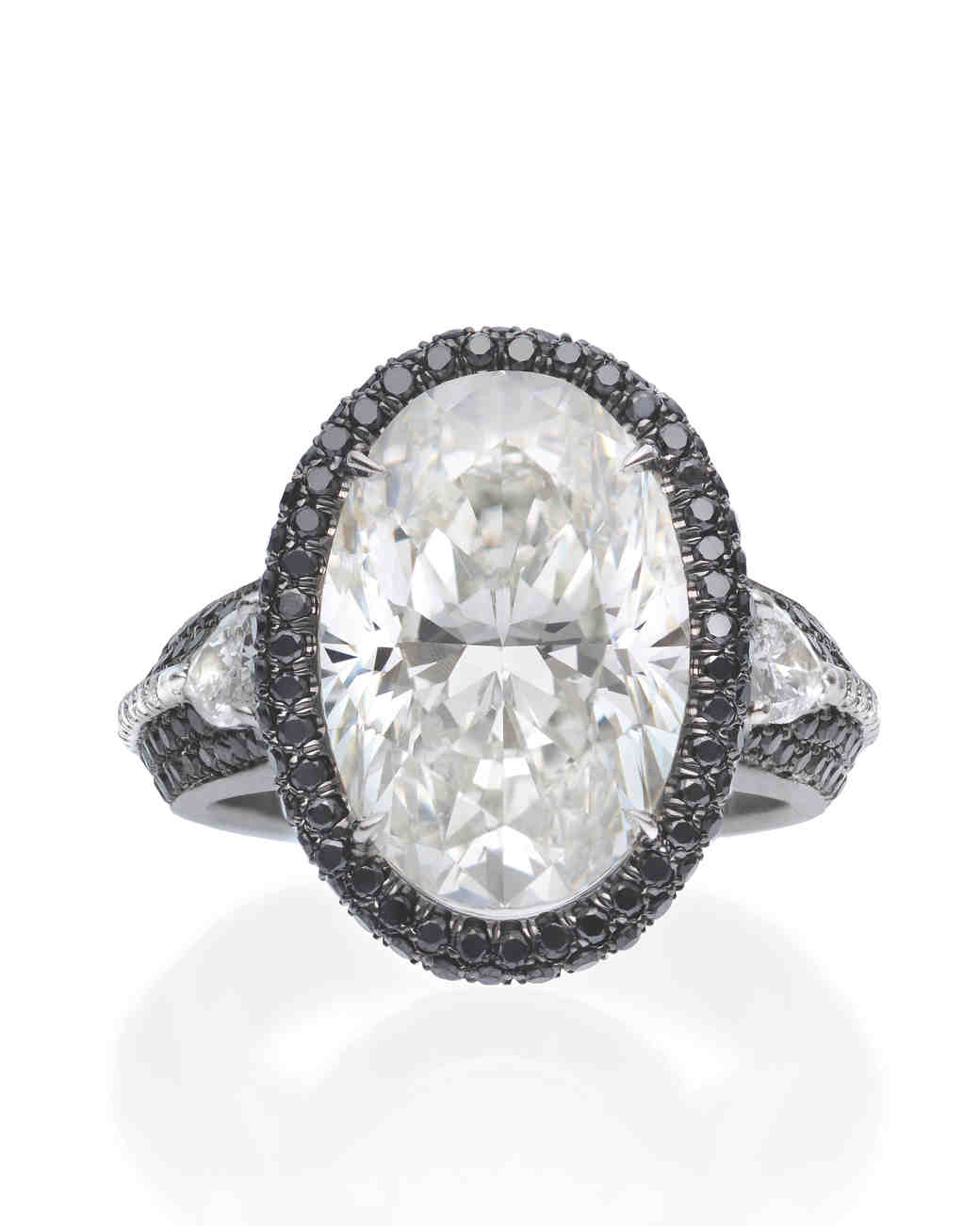 The New Lbd: The Little Black Diamond Engagement Ring  Martha Stewart  Weddings