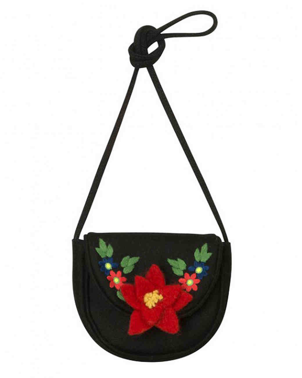 floral embroidered flower girl bag