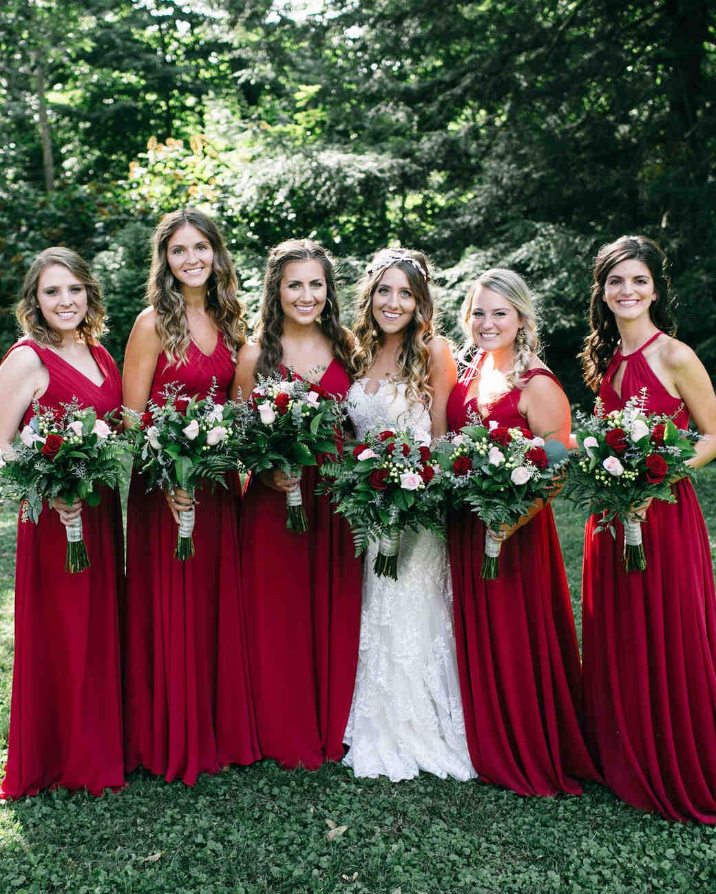 marsala bridesmaid dresses