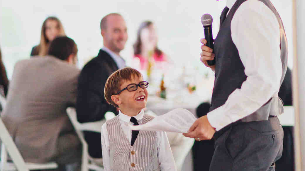 A Best Man Giving a Wedding Speech