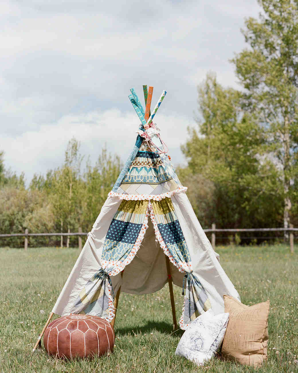 Colby John wedding teepee