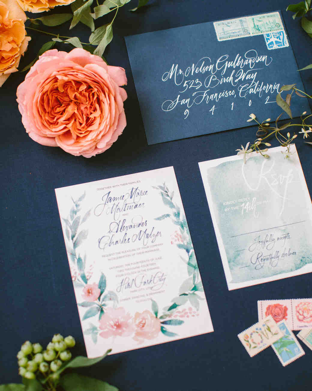 jamie alex wedding invite 127 s111544 1014_vert?itok=9SV5j1CK 10 things you should know before mailing your wedding invitations,Stuffing Wedding Invitations