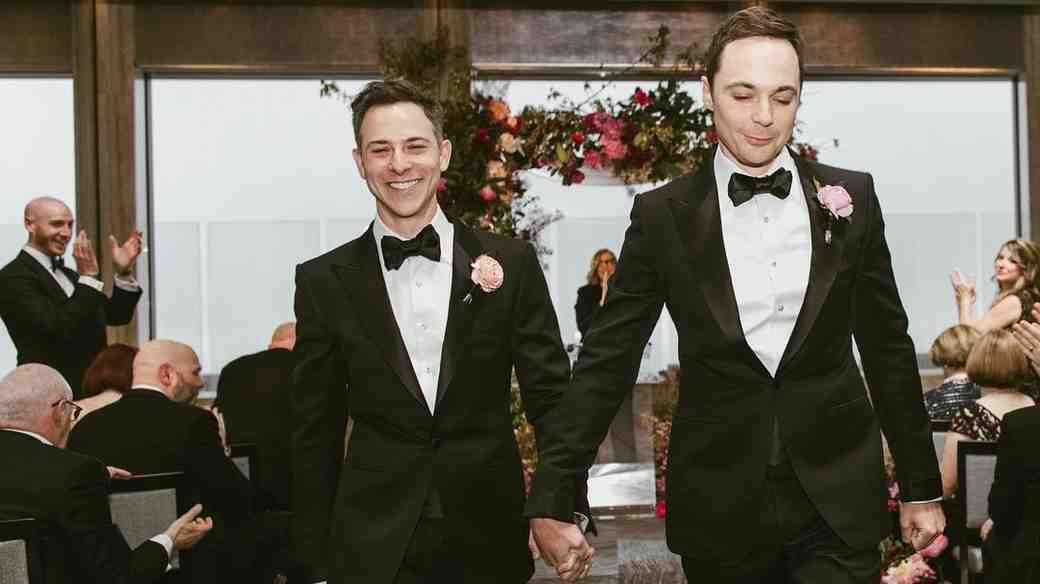 Jim Parsons and Todd Spiewak Rainbow Room wedding