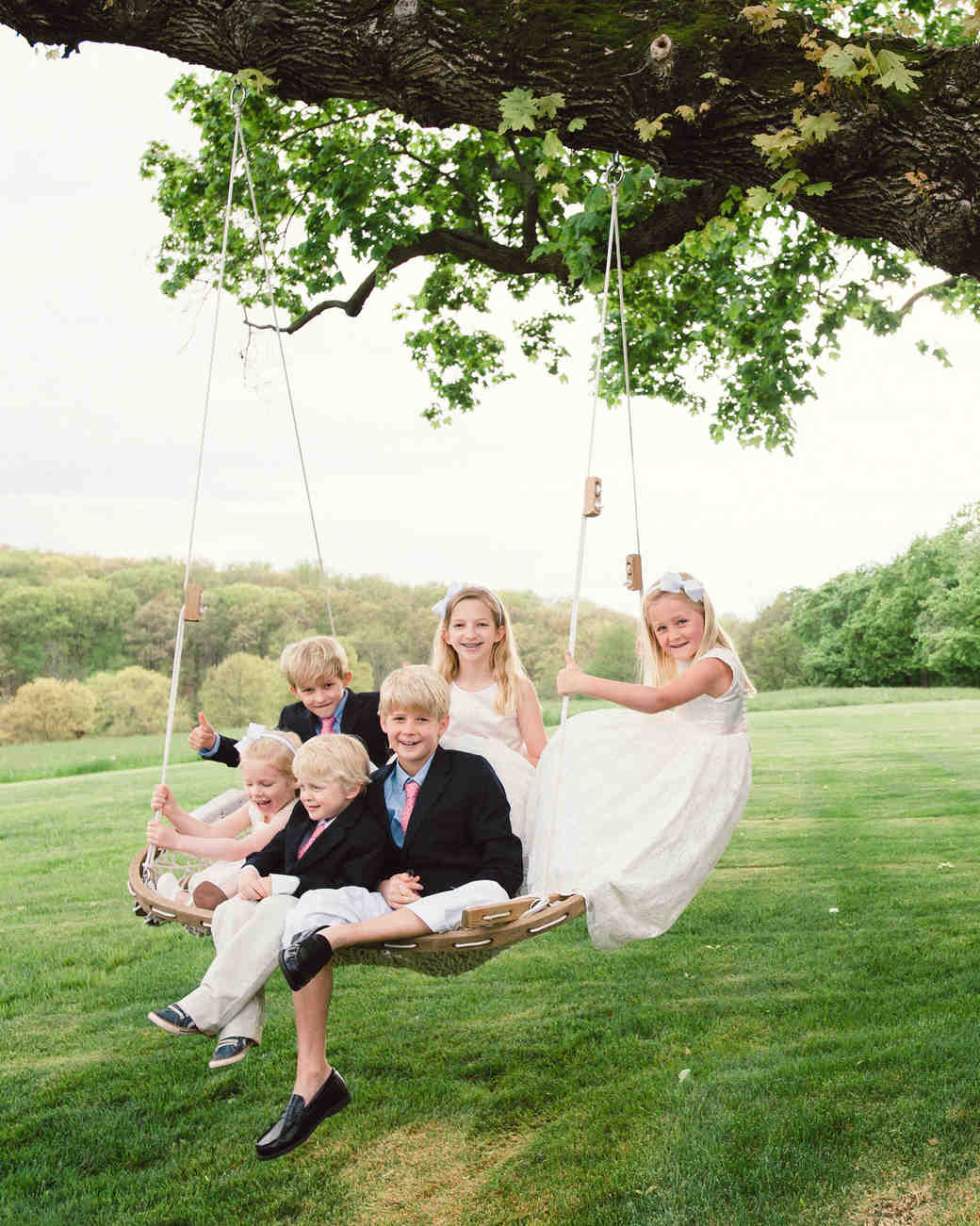 katy andrew wedding swing