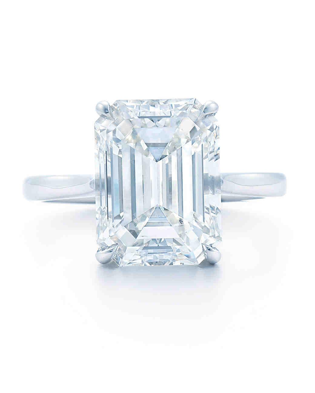 emerald cut engagement rings martha stewart weddings