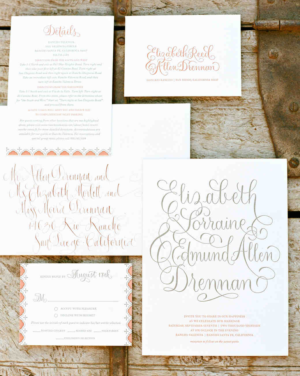 liz allen wedding invite 0007 s111494 0914_vert?itok=OrHfpzNH 10 things you should know before mailing your wedding invitations,Stuffing Wedding Invitations