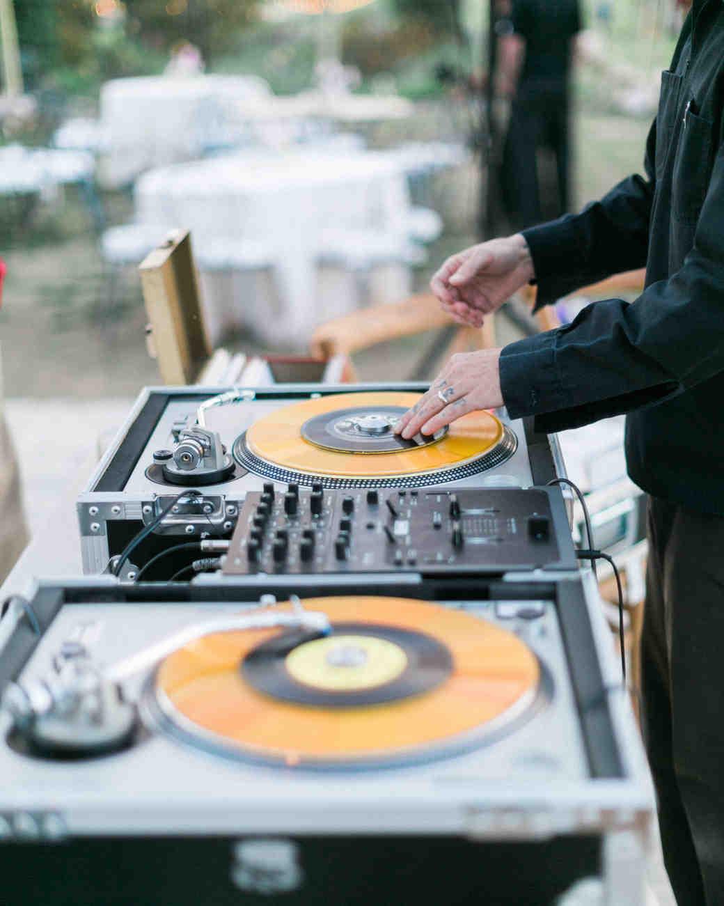 DJ Using Turntables