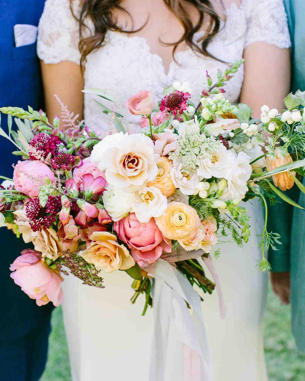 White Garden Rose Bouquet 41 stunning ranunculus wedding bouquets | martha stewart weddings