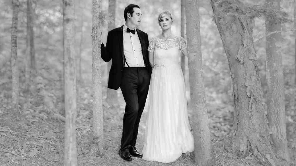 A Retro, Camp-Themed Wedding in the Adirondacks