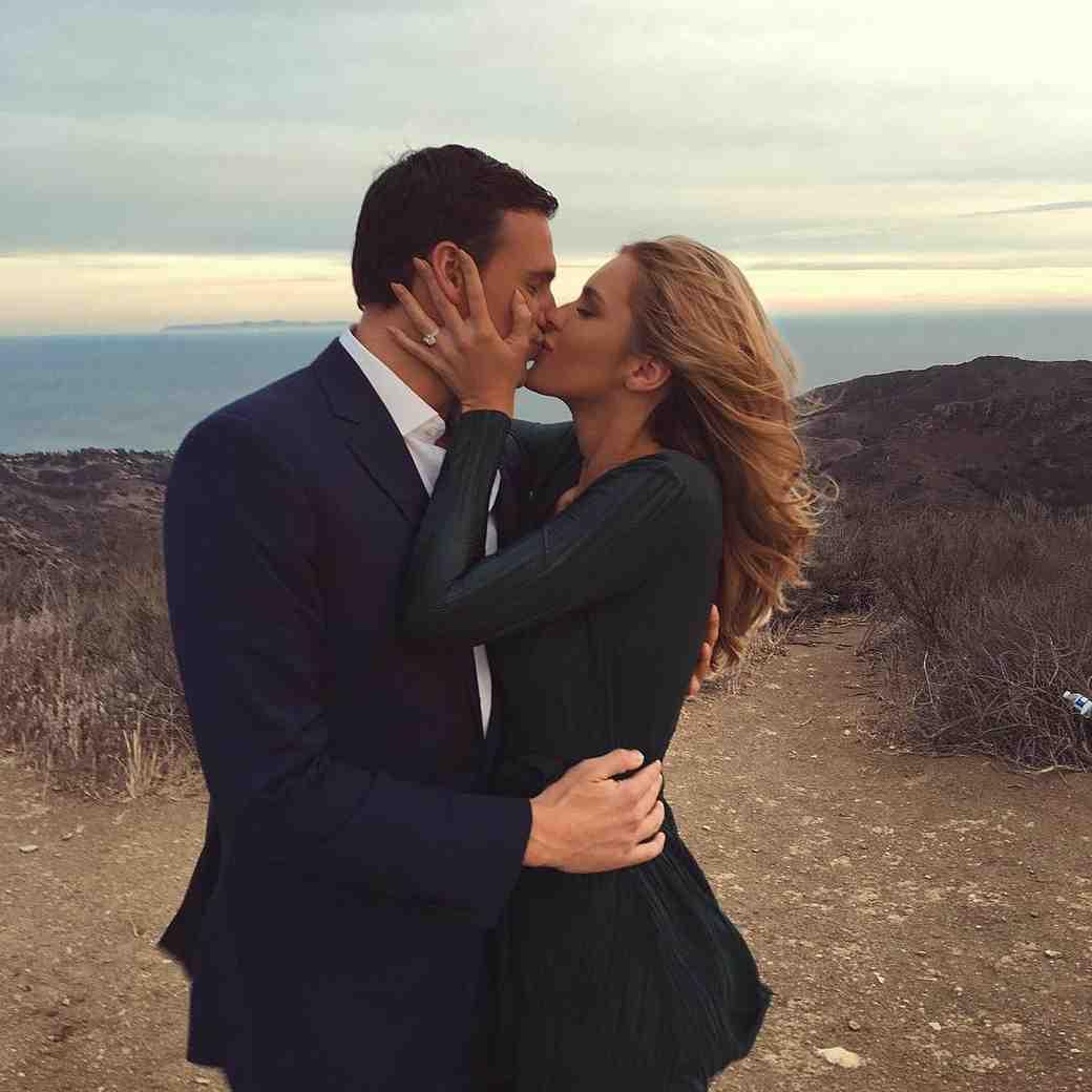 Ryan Lochte and Kayla Rae Reid Engagement Photo