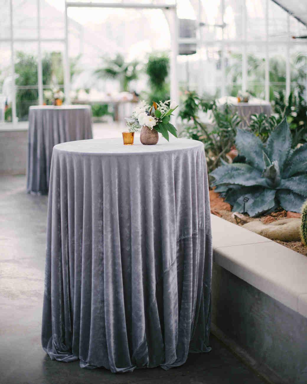 Silver Wedding Tablecloths
