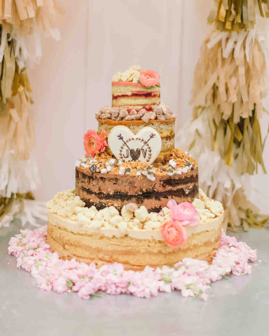 Sweet And Simple Naked Wedding Cakes: 44 Naked Cakes For Your Wedding