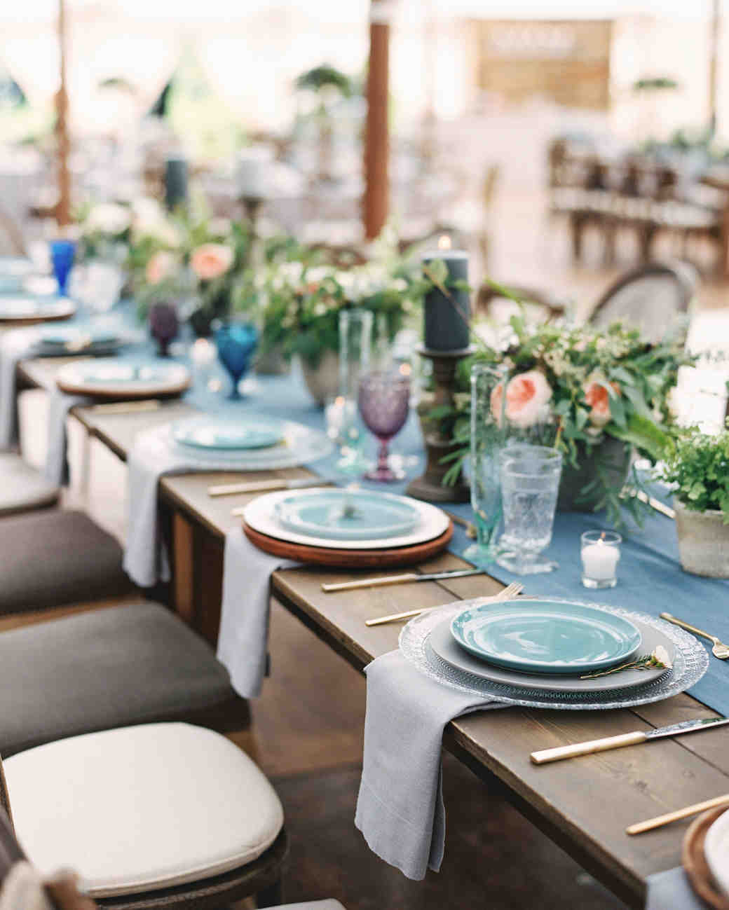 blue plate place settings