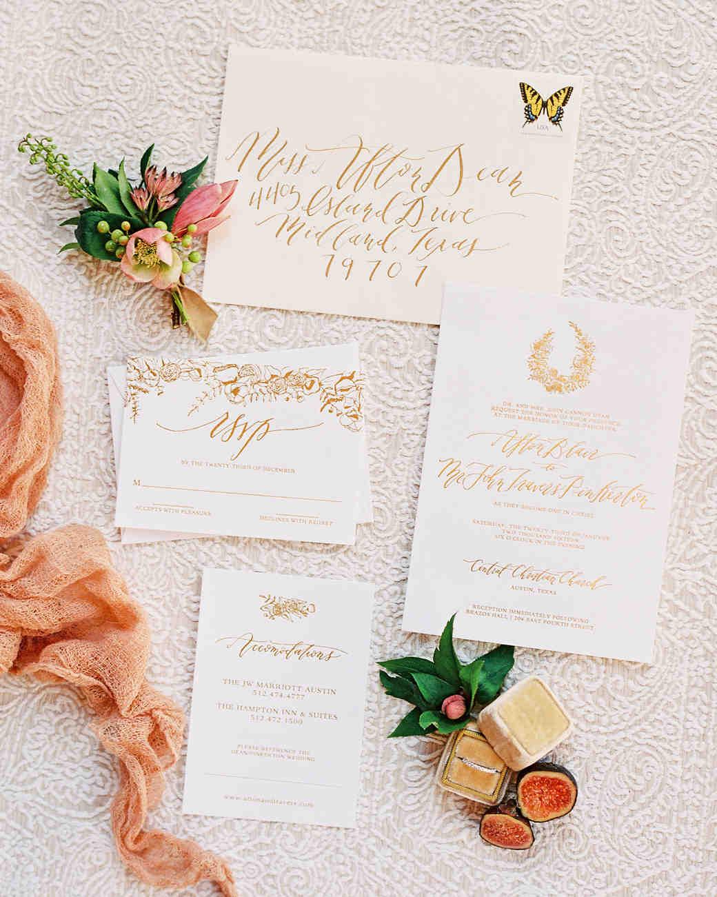 afton travers wedding invite