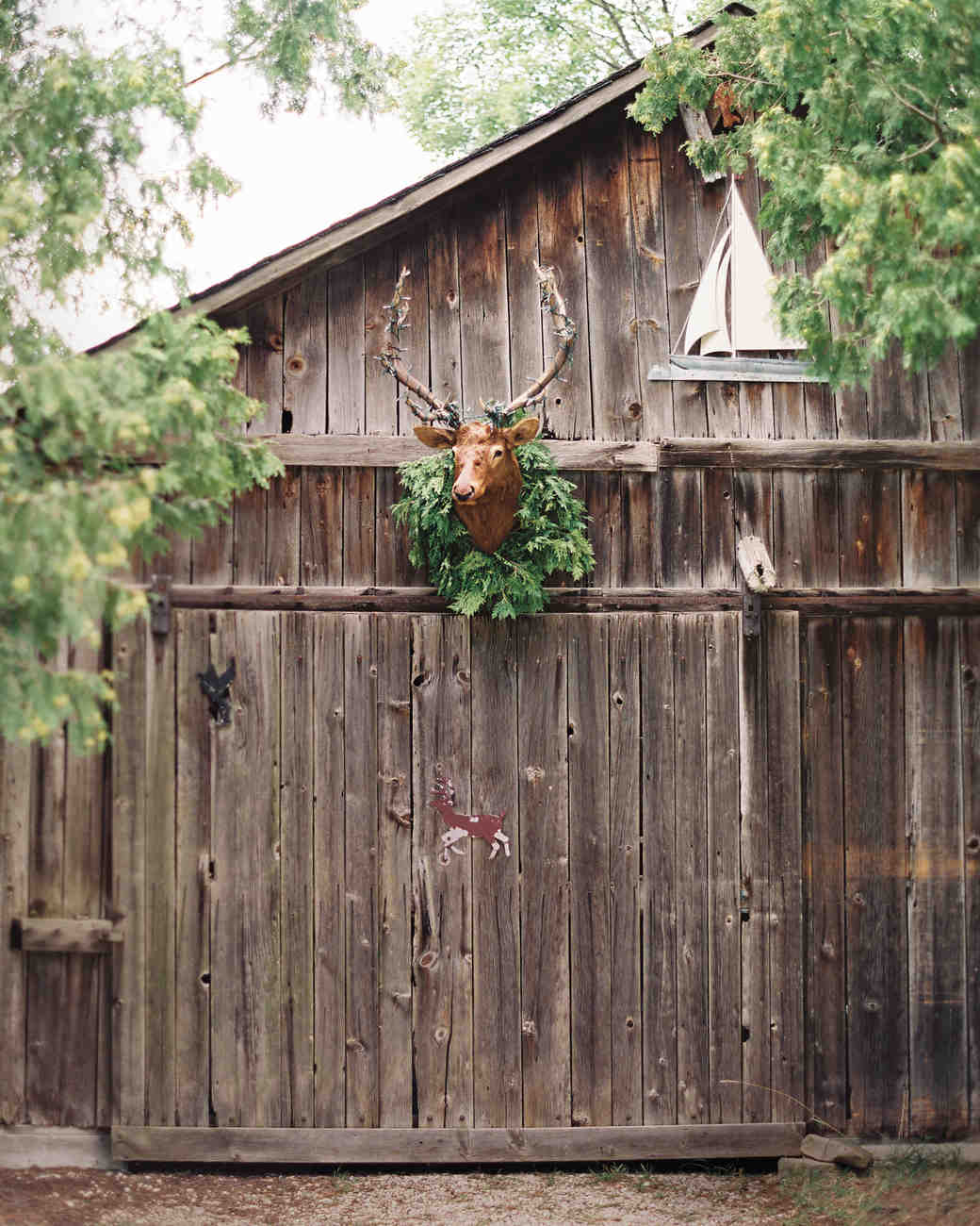 Barn with Deer Trophy Head