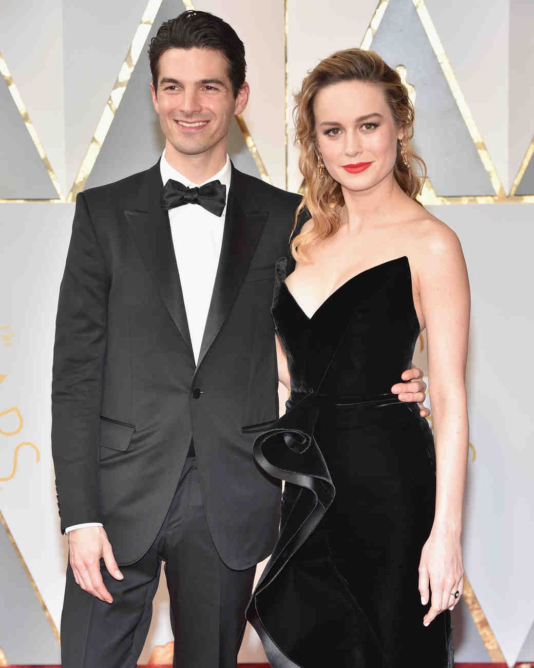Brie Larson and Alex Greenwald at 2017 Academy Awards