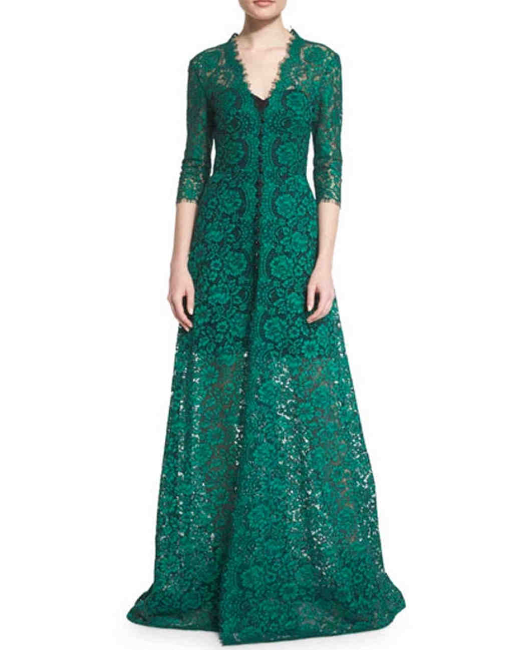 Green Lace Gown