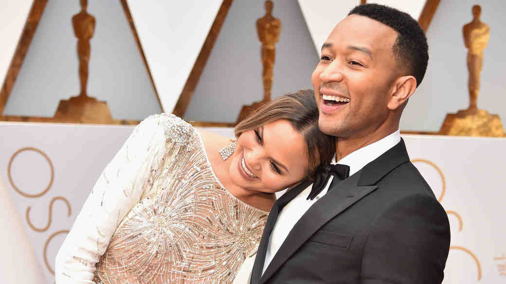 Chrissy Teigen and John Legend at 2017 Academy Awards