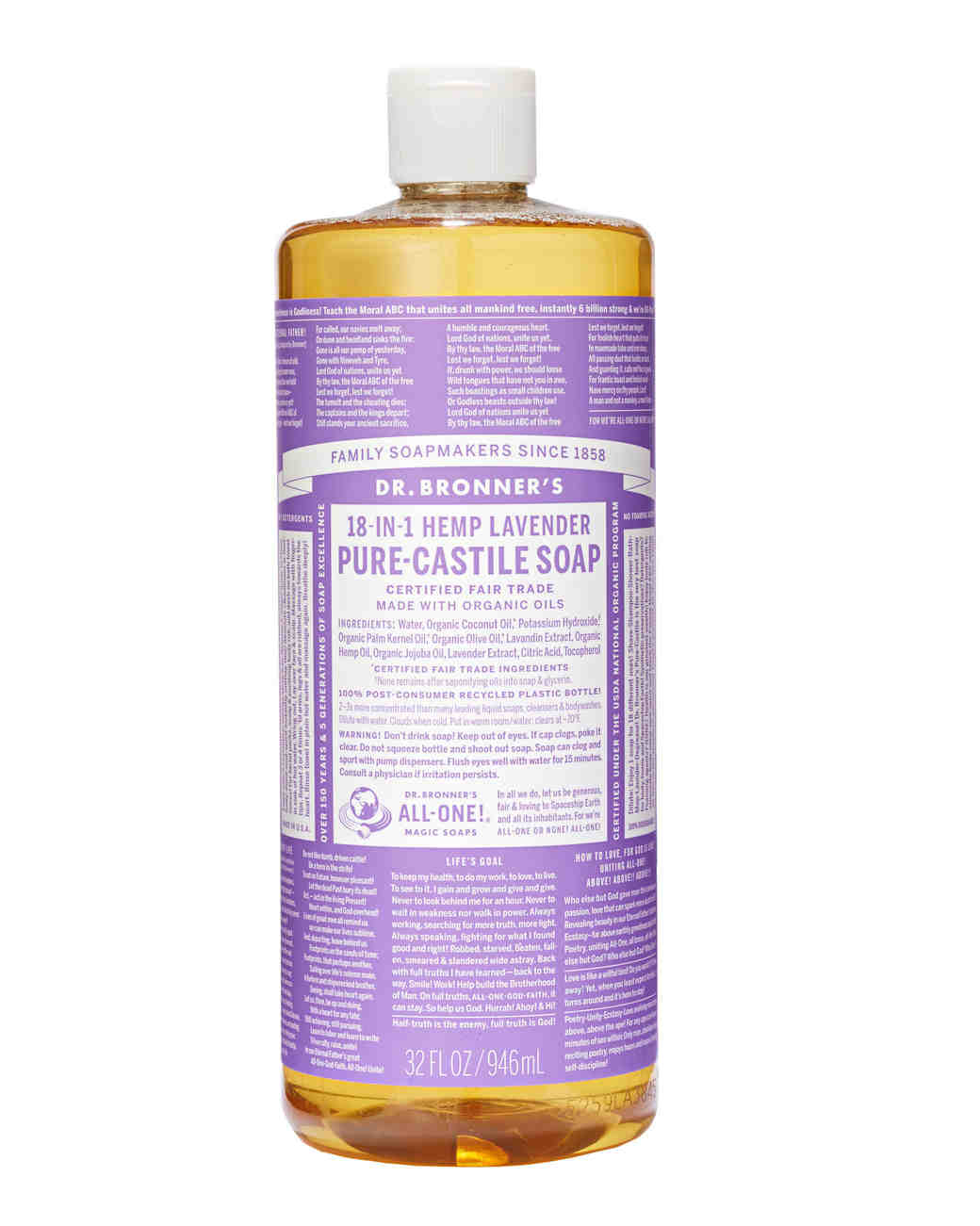 dr bronners lavender castile soap