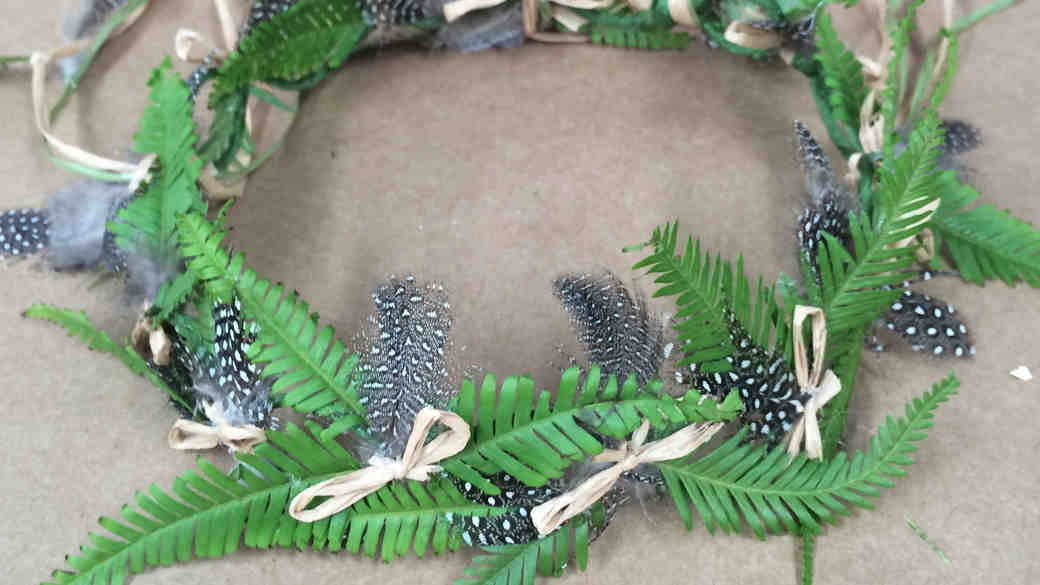 DIY: Fern-and-Feather Floral Crown for the Boho-Chic Bride