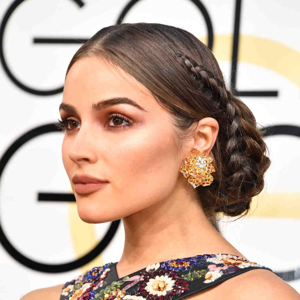 Olivia Culpo Beauty Look Golden Globes 2017