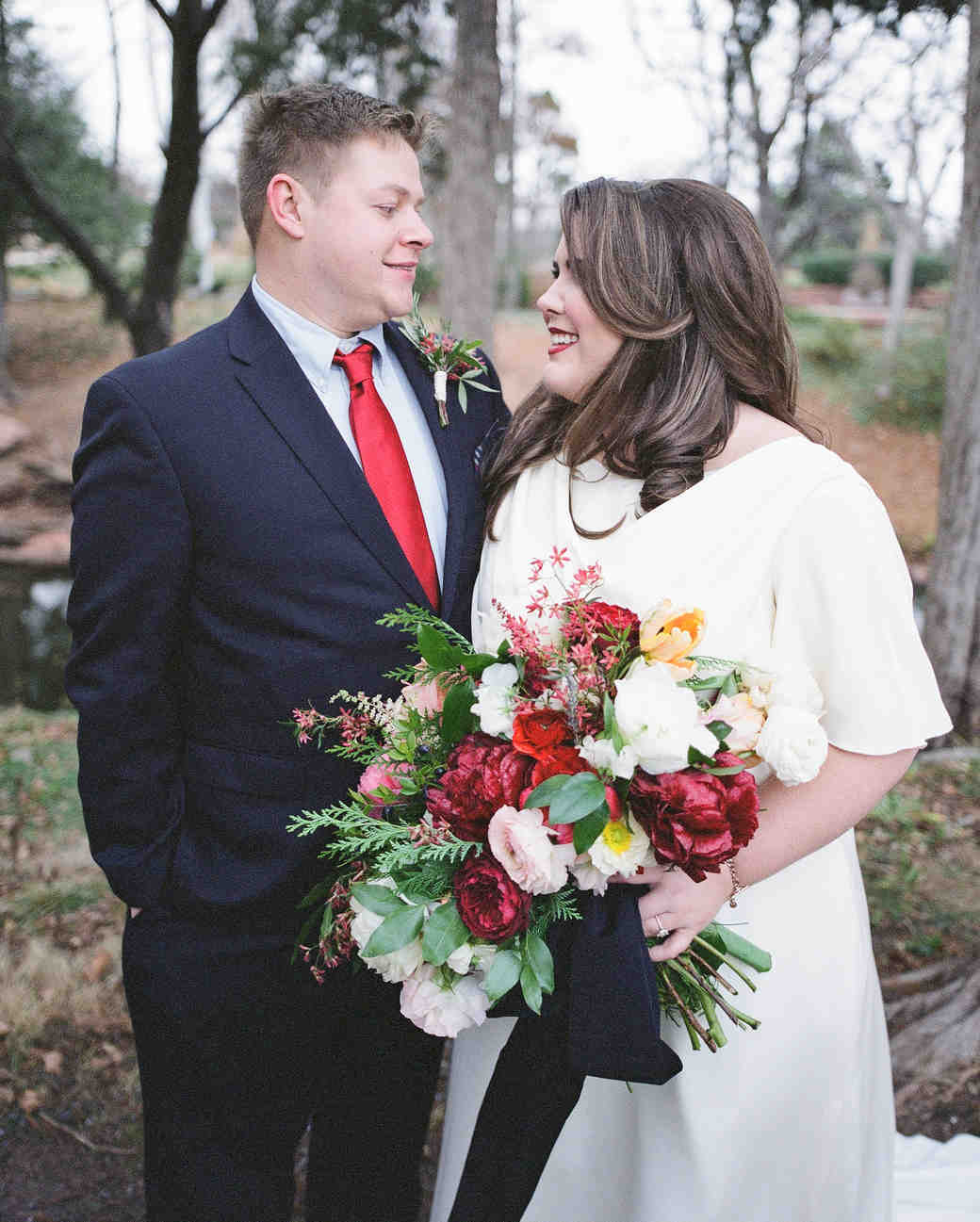 A Preppy, Plaid Winter Wedding in Oklahoma