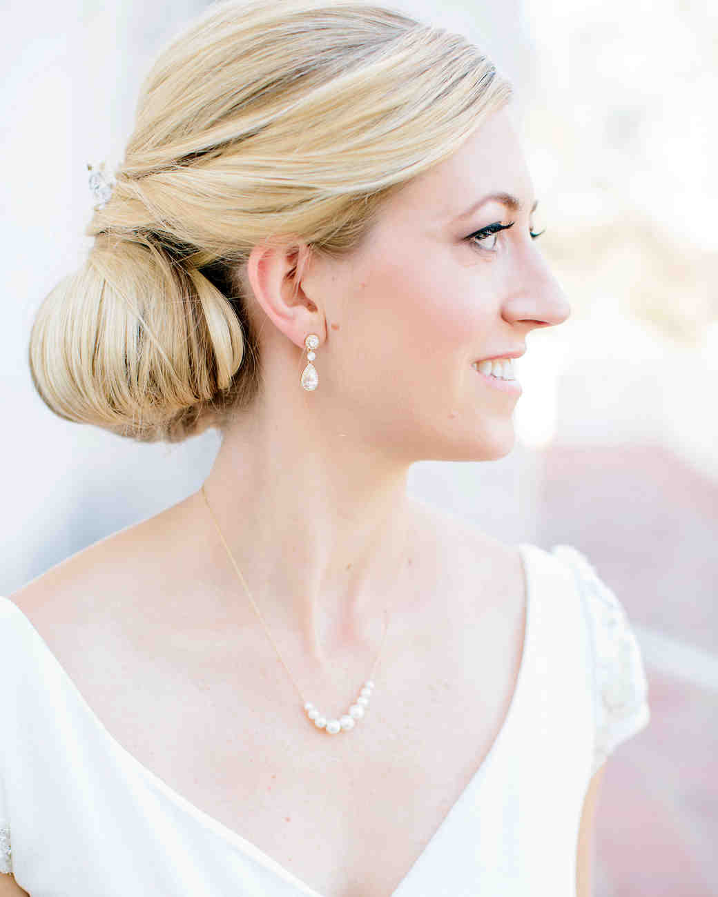 julie anthony real wedding updo hair style