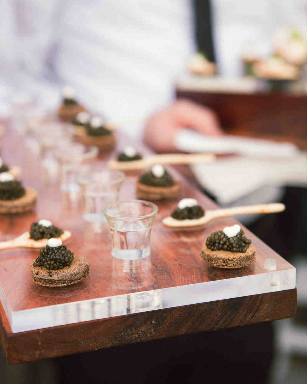 katy andrew wedding caviar