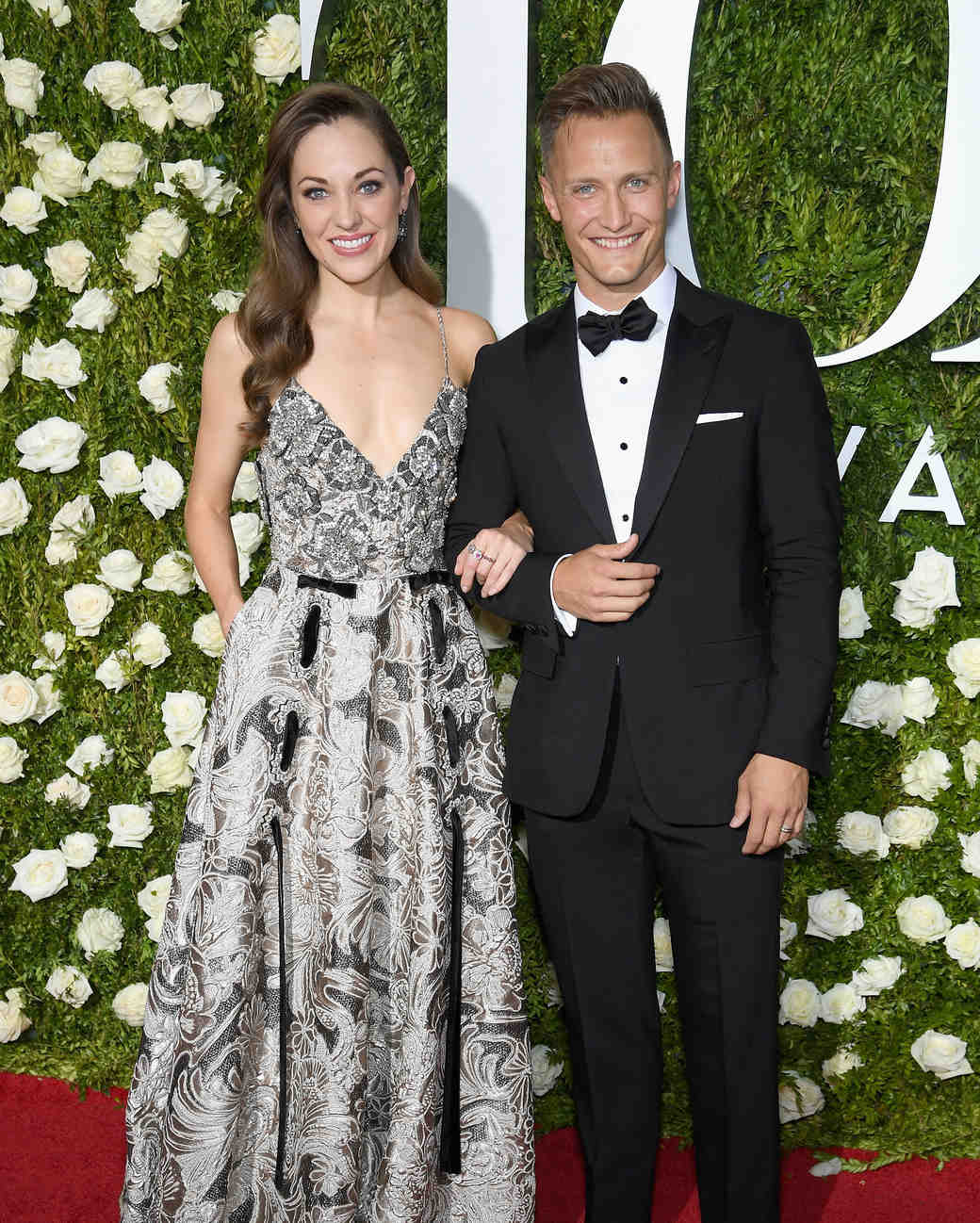 Laura Osnes and Nathan Johnson at 2017 Tony Awards