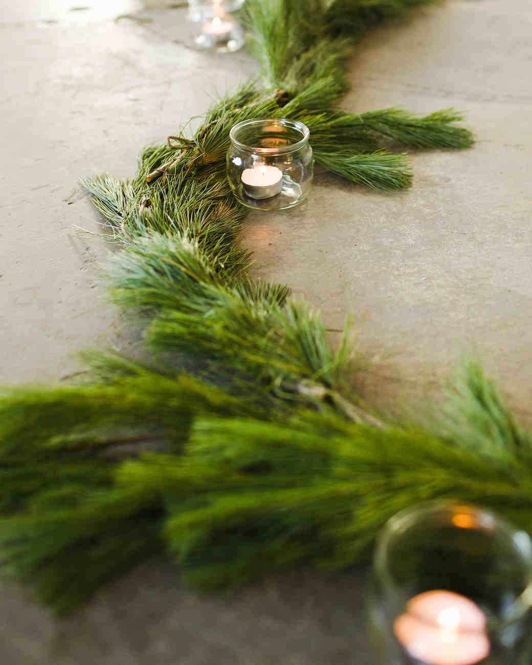 Winter Pine Bough Ceremony Aisle