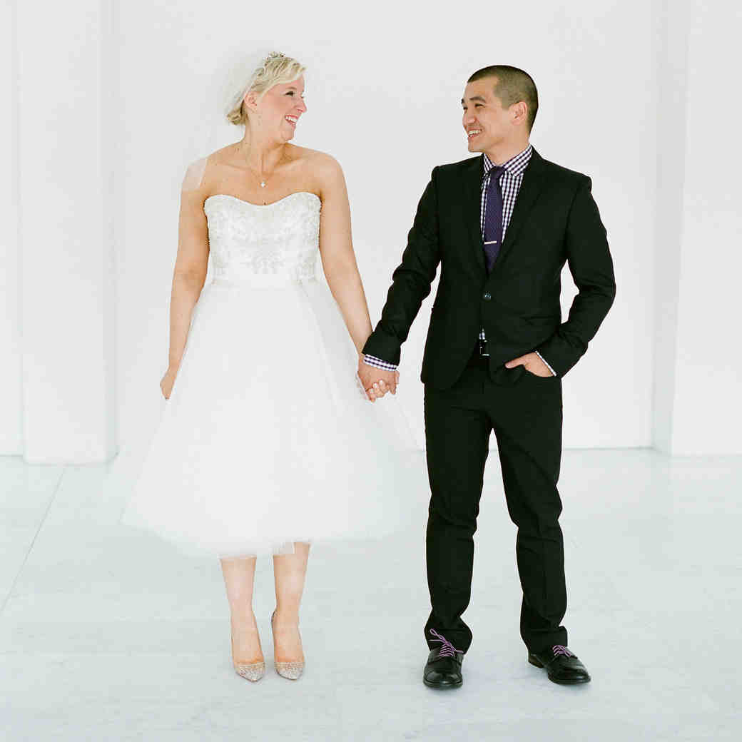 A Whimsical, Purple Wedding at the Milwaukee Art Museum