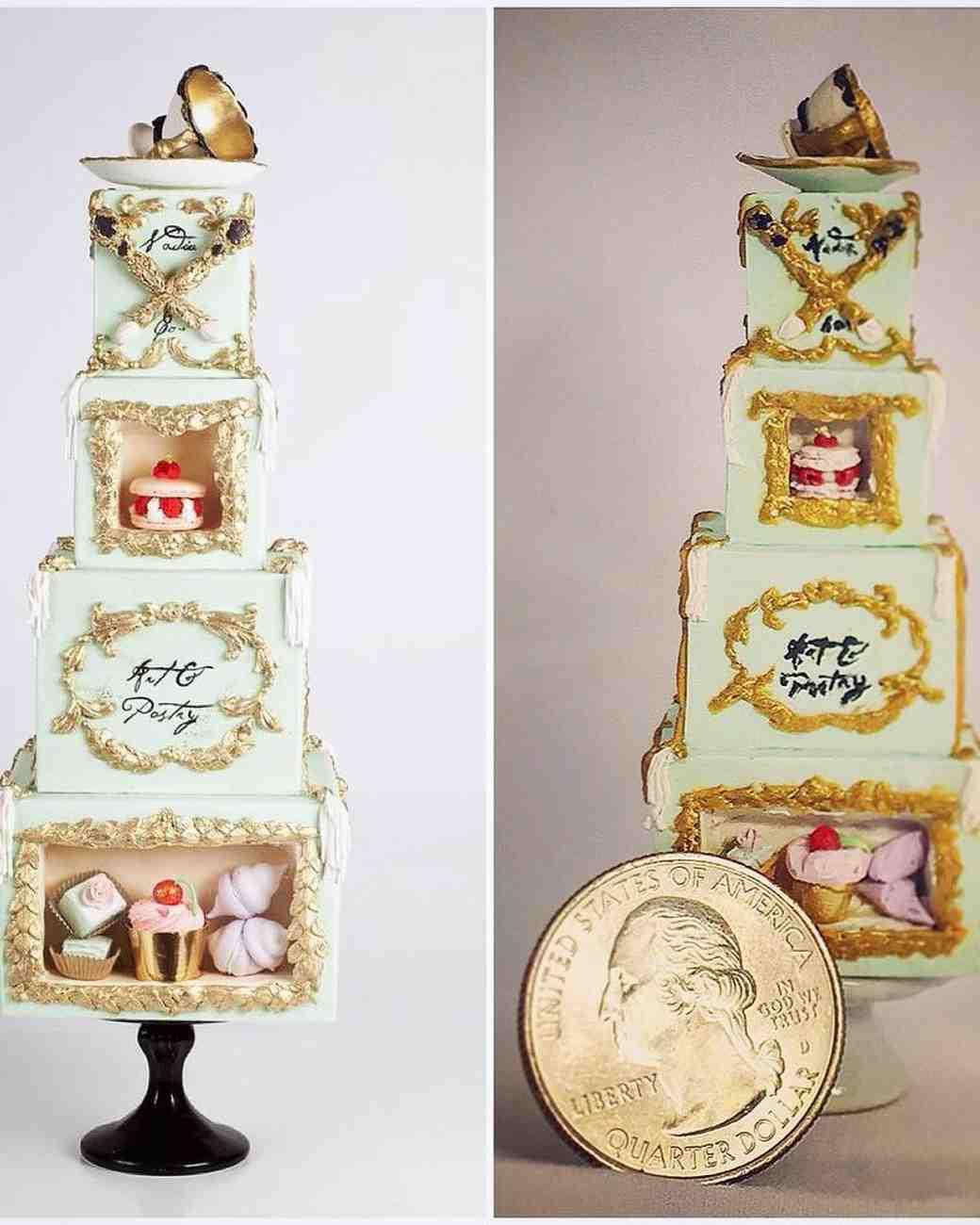mini cake ornate