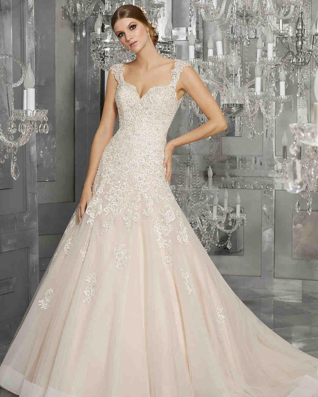 morilee wedding dress spring 2018 v-neck embellished a-line