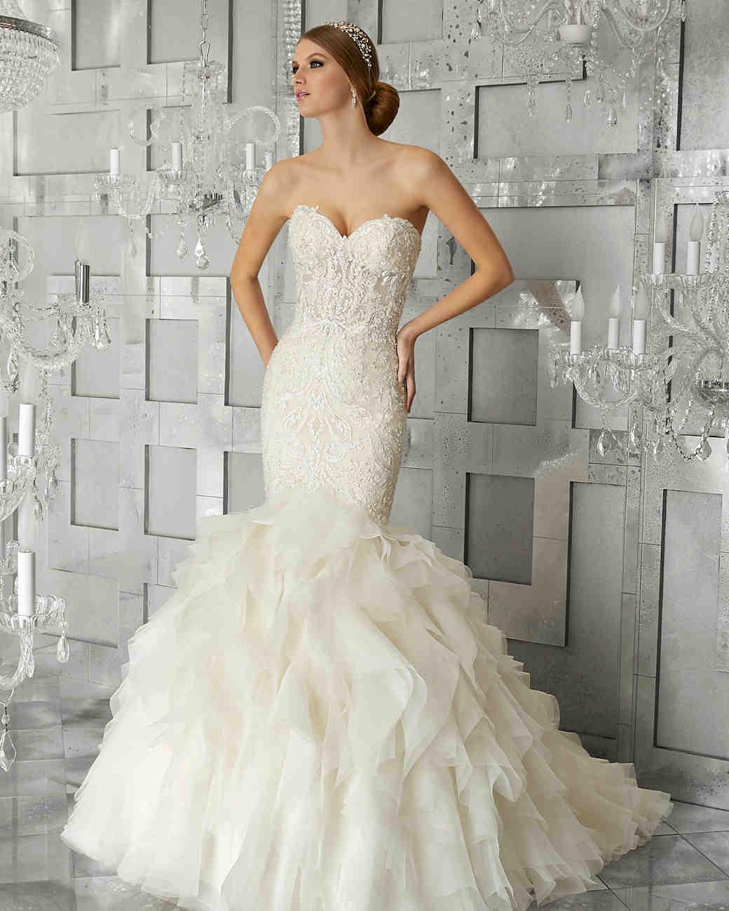 morilee wedding dress spring 2018 sweetheart mermaid ruffled