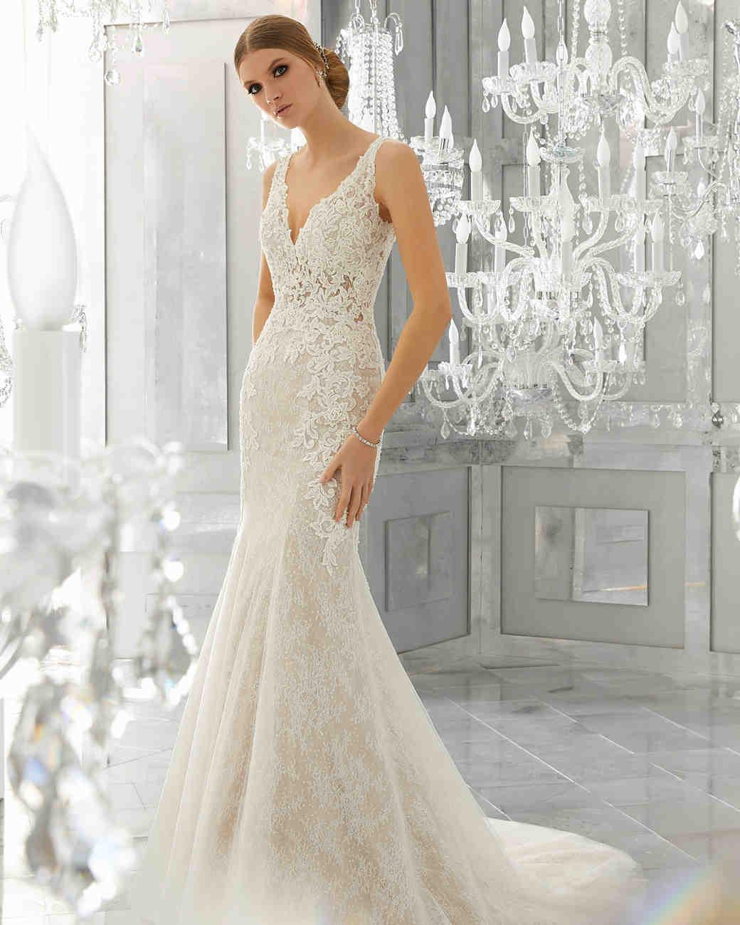 morilee wedding dress spring 2018 v-neck embroidered trumpet