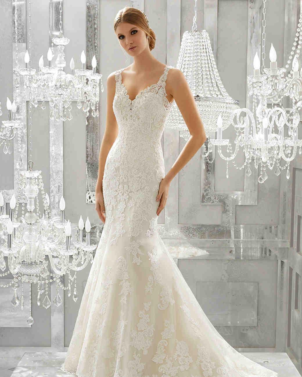 morilee wedding dress spring 2018 v-neck embroidered lace