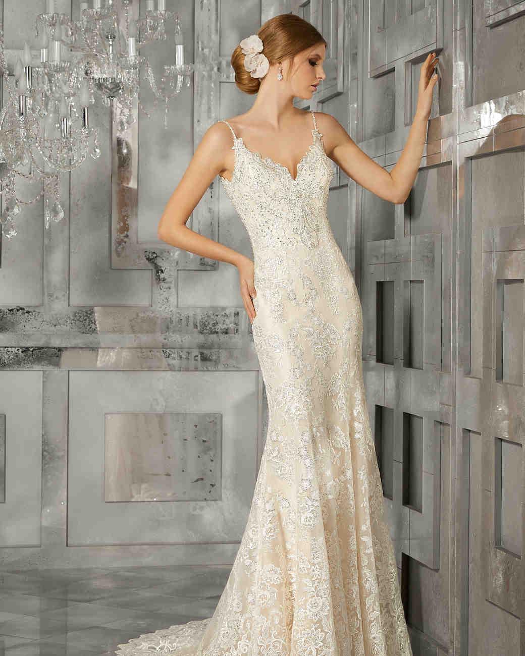 morilee wedding dress spring 2018 spaghetti strap sheath