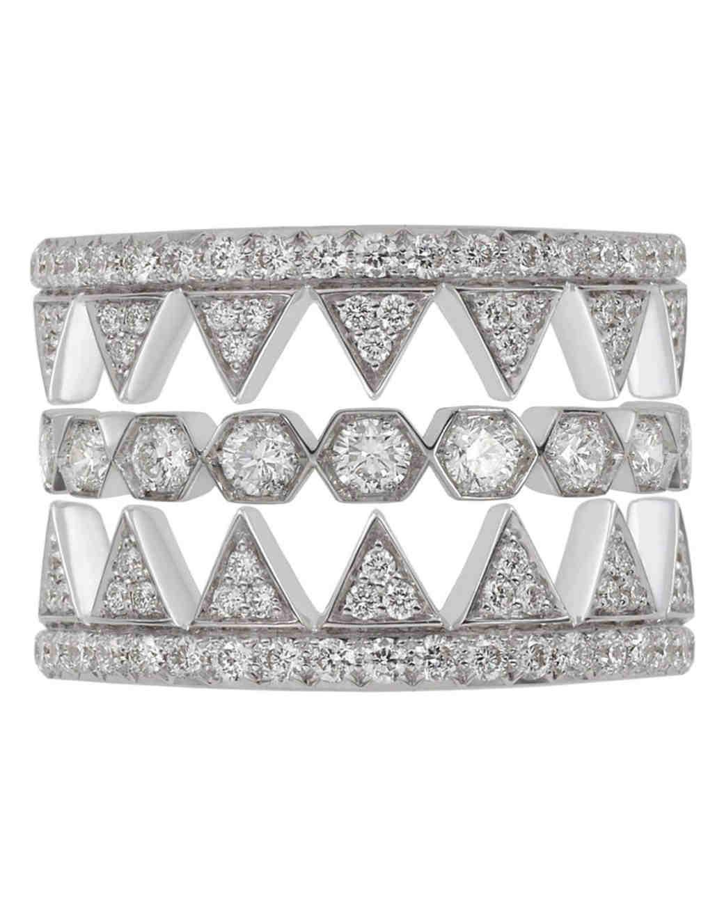 Noor Fares Eye Do White Diamond Combination Collection Ring