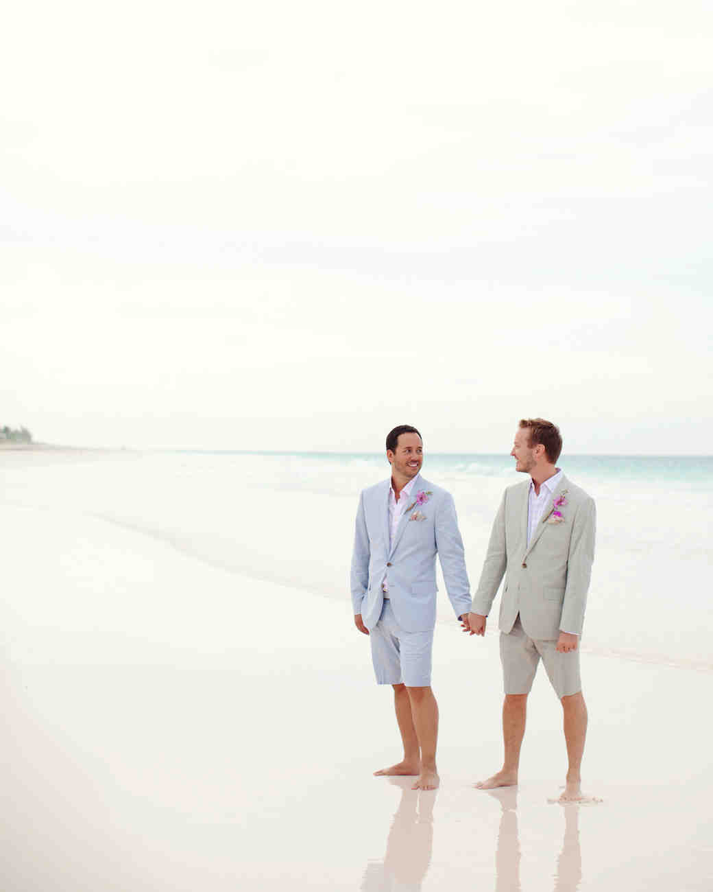 a coralcolored beach wedding in the bahamas martha