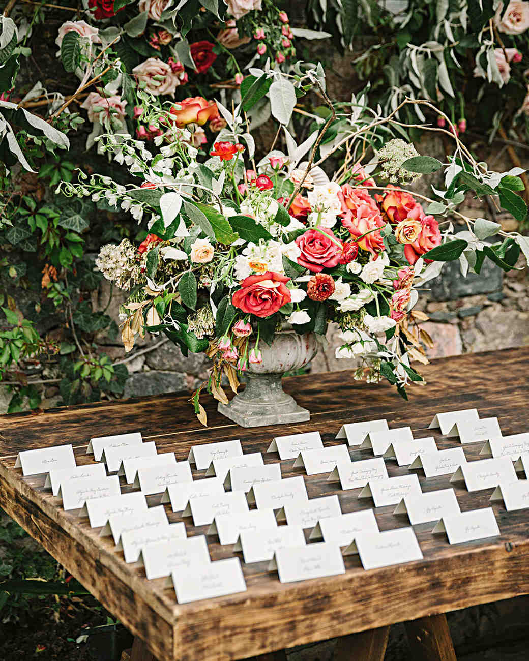 regina chris wedding escort cards