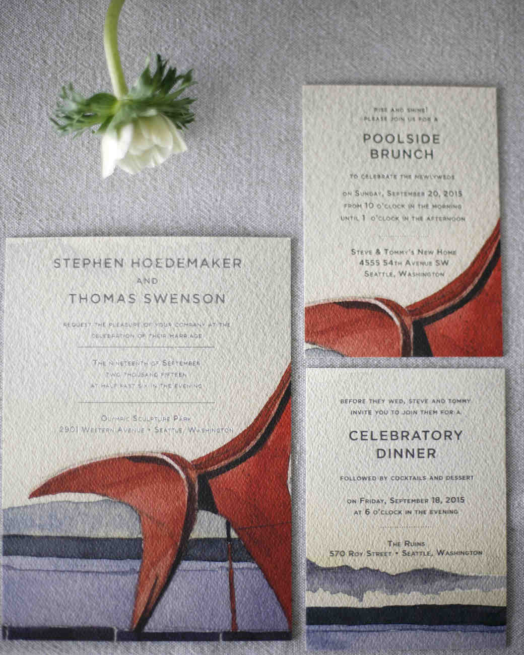 tommy steve wedding invite