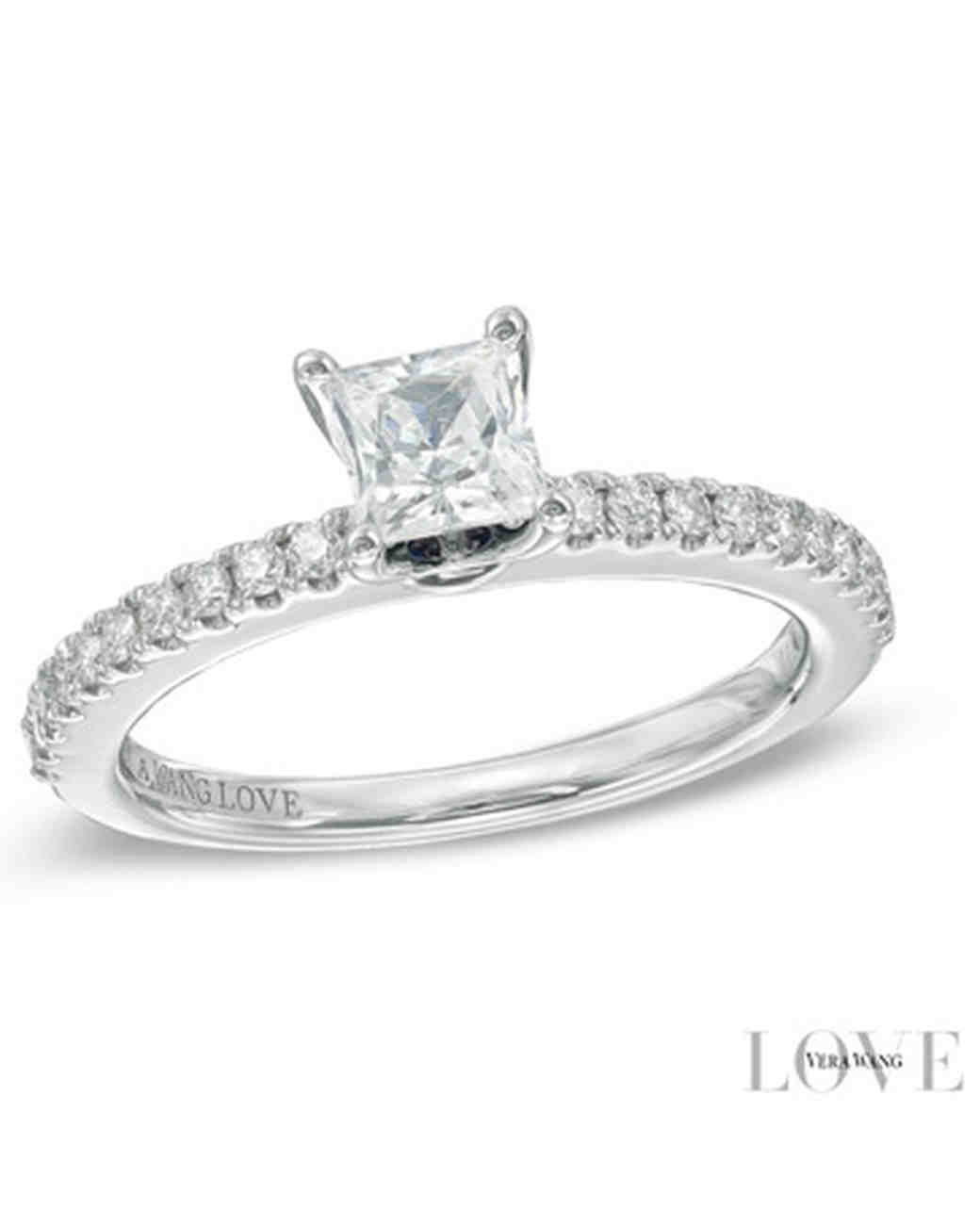 Vera Wang Princess-Cut Engagement Ring