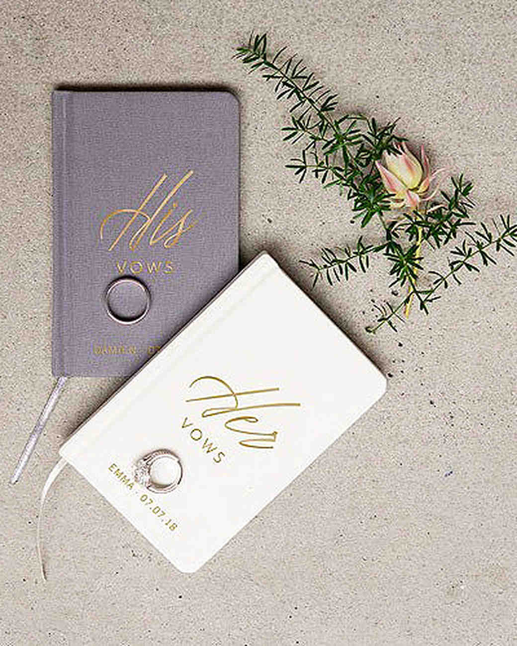 his and hers wedding vow booklets
