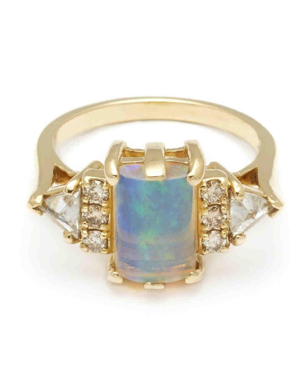 anna sheffield opal engagement ring - Opal Wedding Ring